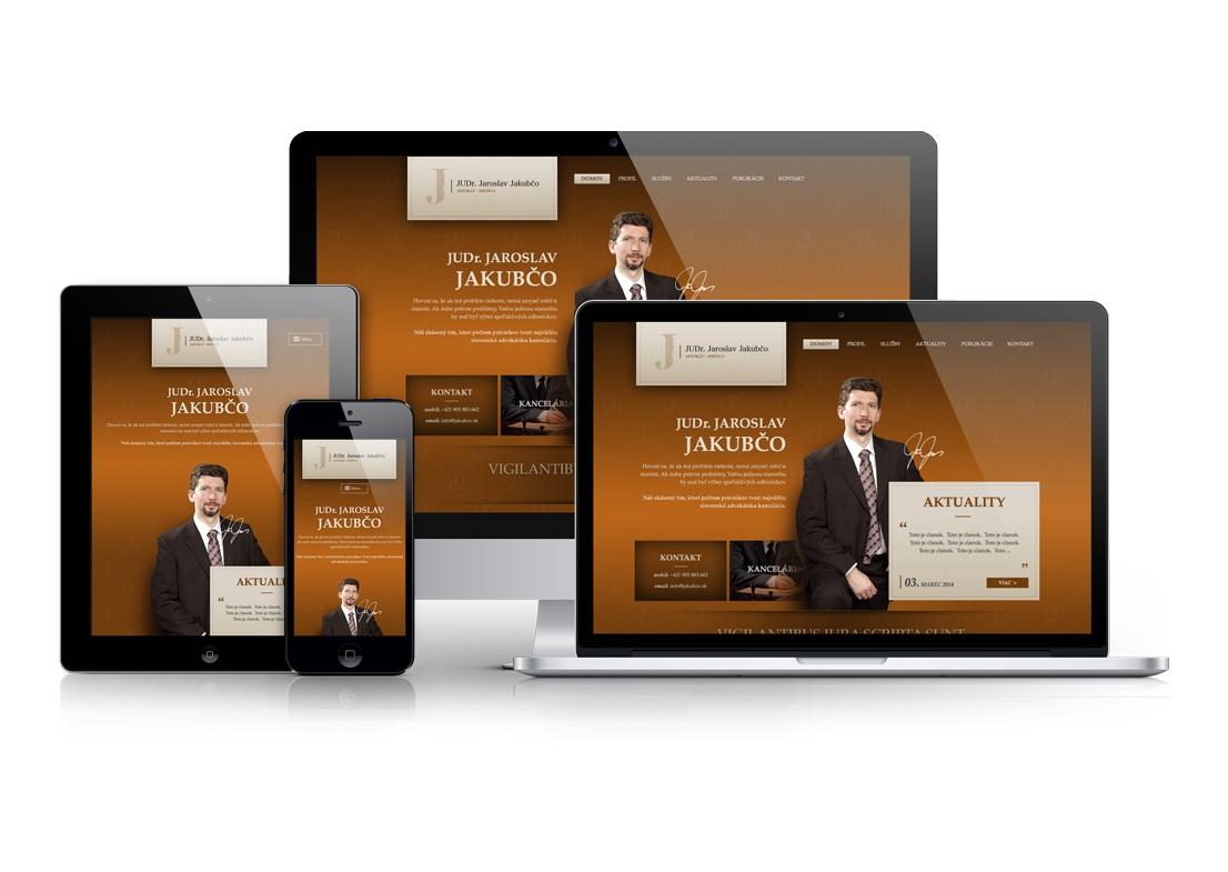 Web stránka pre advokáta / právnika / správcu