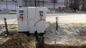 Elektrické prípojky k domom a budovám