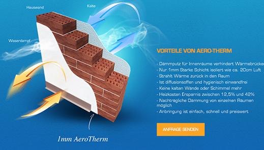 Web stránka produktu Aero-therm